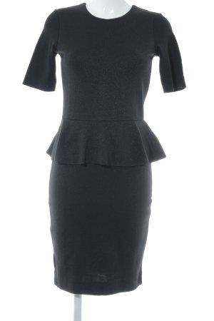 by Malene Birger Vestido peplum negro elegante
