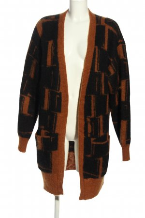 by Malene Birger Strick Cardigan braun-schwarz Allover-Druck Casual-Look
