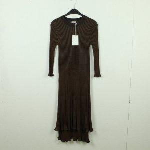 By Marlene Birger Gebreide jurk bruin-donkerbruin