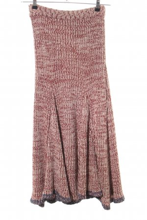by Malene Birger Strickrock rot-wollweiß meliert Casual-Look