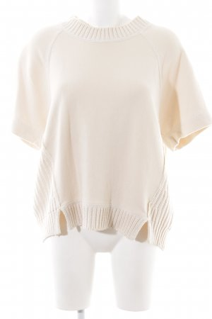 by Malene Birger Strickshirt creme Zopfmuster Casual-Look