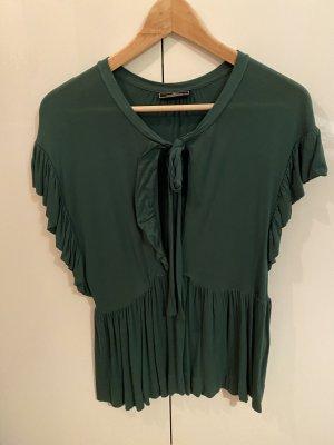 by Malene Birger Ruche blouse bos Groen
