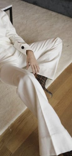 by Malene Birger Low-Rise Trousers white