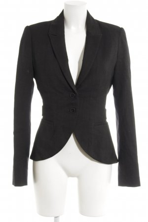 by Malene Birger Woll-Blazer schwarz Webmuster Business-Look