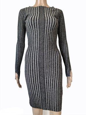 by Malene Birger Mini-jurk zwart-zilver