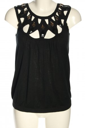 By Marlene Birger Knitted Top black cable stitch elegant