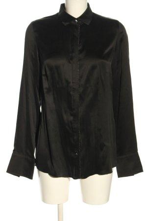 by Mi Hamburg Blusa in seta nero elegante
