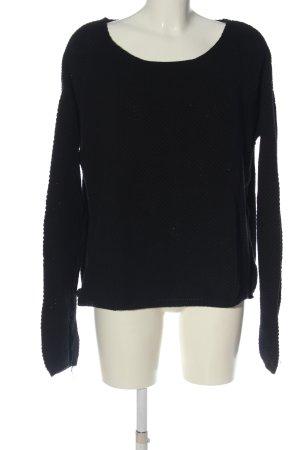 by second female Sweter z okrągłym dekoltem czarny W stylu casual