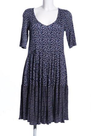 by Ti Mo Vestido de tela de jersey azul-blanco estampado floral look casual