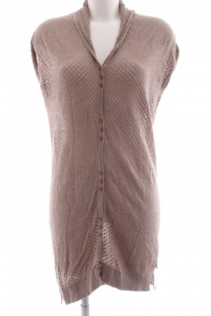 by Ti Mo Short Sleeve Knitted Jacket bronze-colored abstract pattern casual look