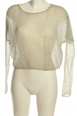 by Ti Mo Kraagloze sweater wolwit casual uitstraling
