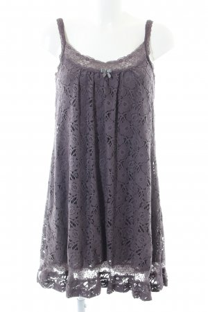 by Ti Mo Lace Dress light grey flower pattern casual look