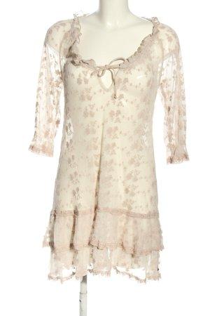 by Ti Mo Kanten jurk wolwit volledige print elegant