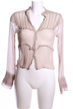by Ti Mo Transparent Blouse cream simple style