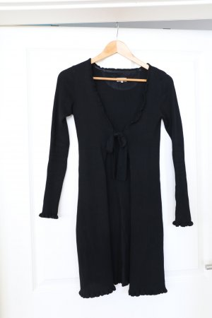 by Ti Mo Knitted Cardigan black viscose