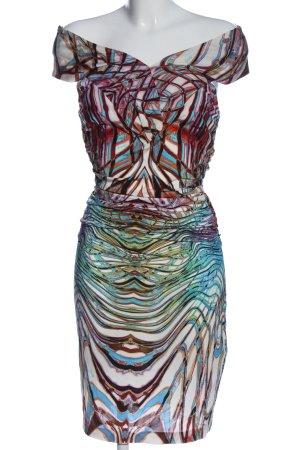 Byblos Jurk met korte mouwen abstract patroon elegant