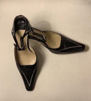 Byblos Heel Pantolettes black-white leather