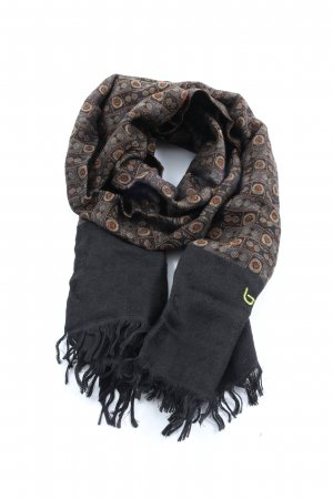 Byblos Knitted Scarf black graphic pattern casual look