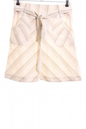 bzr Plaid Skirt cream-brown striped pattern casual look