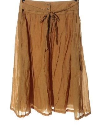 bzr Rozkloszowana spódnica jasny pomarańczowy W stylu casual