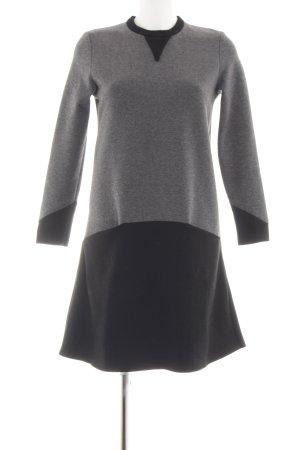 bzr Robe pull noir-gris clair moucheté style d'affaires