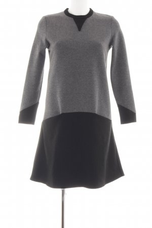 bzr Vestido tipo jersey negro-gris claro moteado estilo «business»