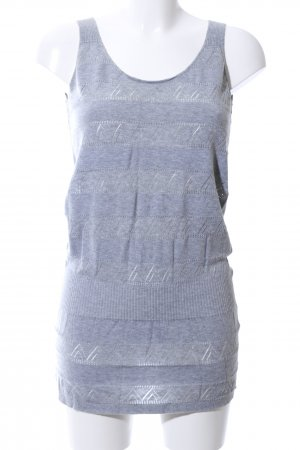 bzr Strappy Top light grey-blue flecked casual look