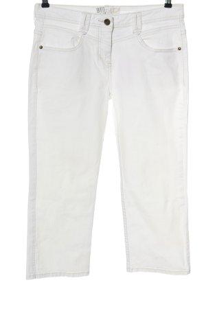 C&A Jeansy 3/4 biały W stylu casual