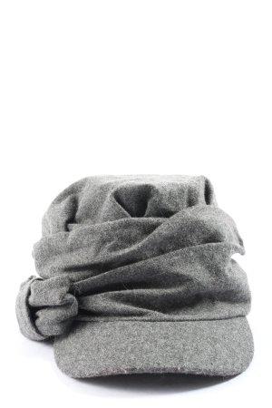 C&A Cappello da panettiere grigio chiaro puntinato stile casual