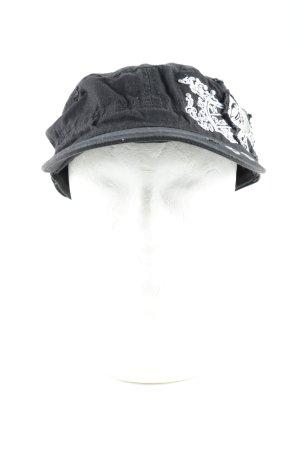 C&A Gorra de béisbol negro-blanco estampado temático look casual