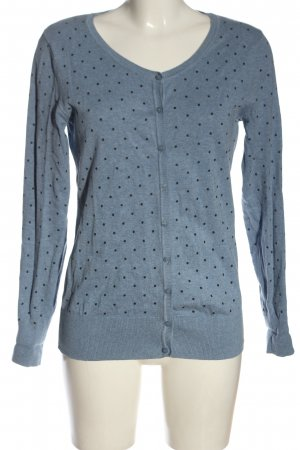 C&A Basics Cardigan blue-black spot pattern casual look