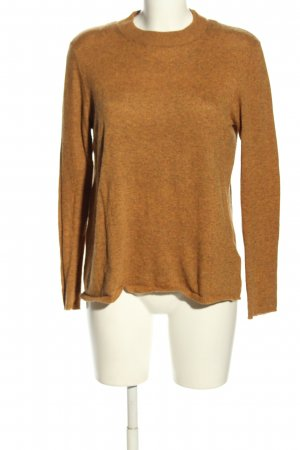 C&A Basics Fine Knit Jumper brown flecked casual look