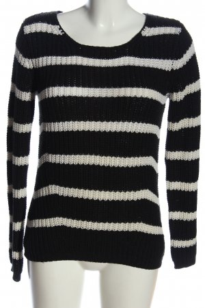 C&A Basics Coarse Knitted Sweater black-white allover print casual look