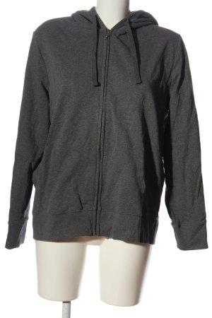 C&A Basics Hooded Sweatshirt light grey flecked casual look