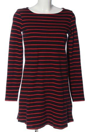 C&A Basics Longsleeve Dress black-red striped pattern casual look