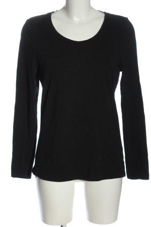 C&A Basics Długa koszulka czarny W stylu casual