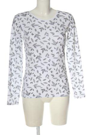 C&A Basics Longsleeve white-black allover print casual look