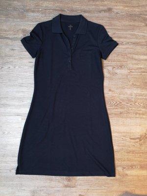 C&A Basics Poloshirt Polokleid Poloshirtkleid XS Blau Dunkelblau