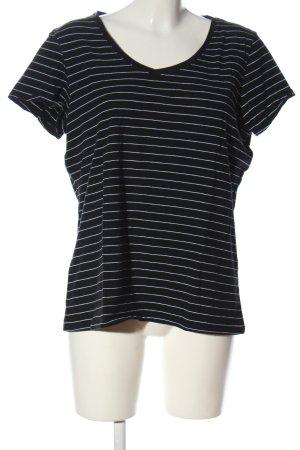 C&A Basics Stripe Shirt black-white striped pattern casual look
