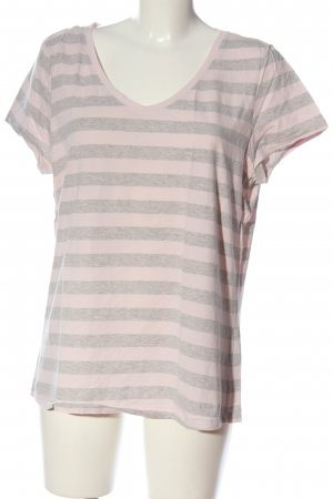 C&A Basics Stripe Shirt pink-light grey flecked casual look