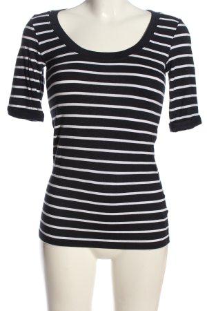 C&A Basics Stripe Shirt blue-white allover print casual look