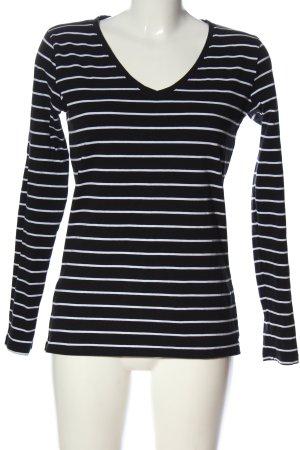 C&A Basics Stripe Shirt black-white allover print casual look