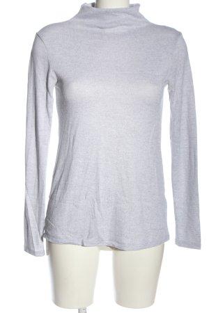 C&A Basics Turtleneck Shirt light grey flecked casual look