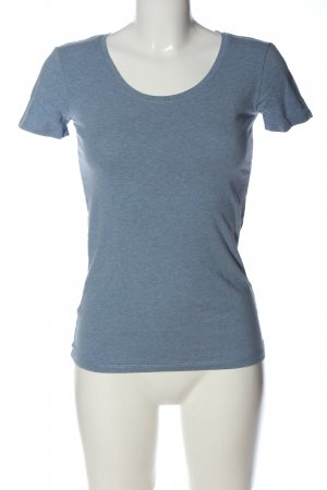 C&A Basics T-Shirt blue flecked casual look
