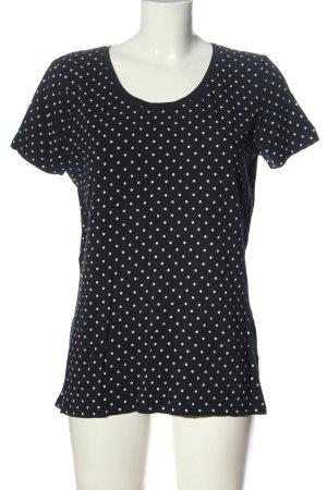 C&A Basics T-Shirt black-white spot pattern elegant