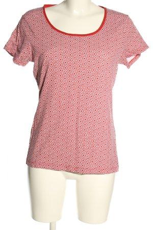 C&A Basics T-shirt czerwony-w kolorze białej wełny Na całej powierzchni