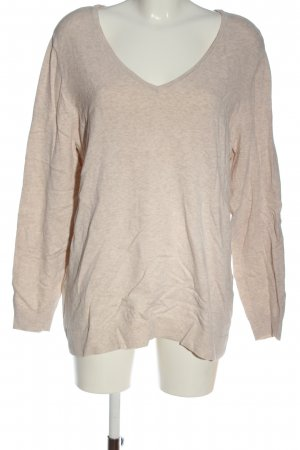 C&A Basics V-Neck Sweater nude flecked casual look