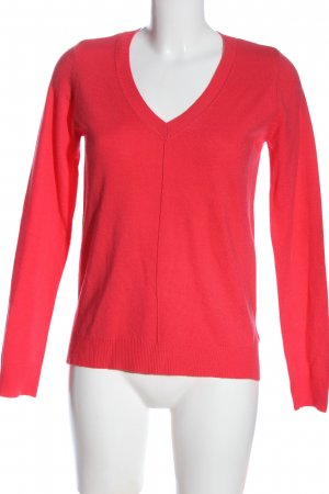 C&A Basics V-Neck Sweater red casual look