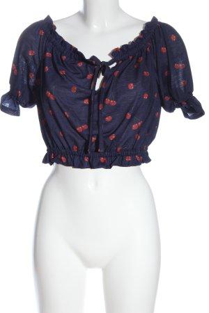 C&A Camisa de mujer azul-rojo estampado repetido sobre toda la superficie