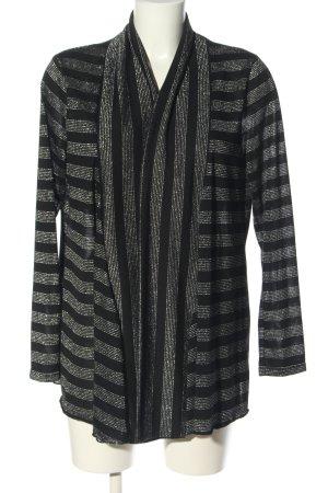 C&A Cardigan schwarz-silberfarben Allover-Druck Casual-Look